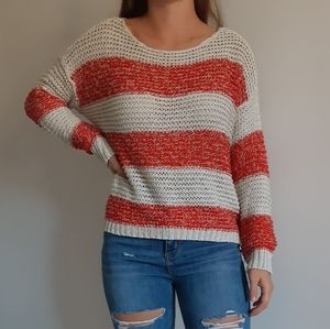 3/$15 ❤ Red and Cream Open Knit Sweater